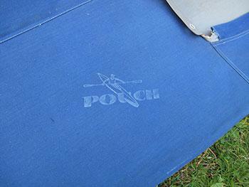 RZ85 Faltboot mit Pouch Aufdruck