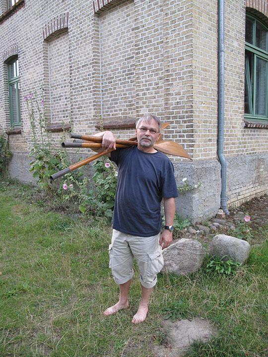 Holz Doppelpaddel für Faltbote träg Matthias gerade. Originale!
